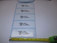 6 TRULINE ROD DECALS FOR ROD WRAPING (BLACK) ,6'x21/4