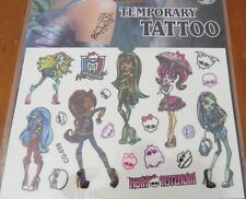 Sheet of Monster High Temporary Tattoos - 11cms x 15.5cms