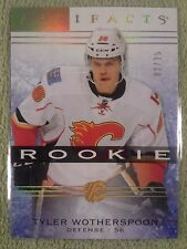 2014-15 UD Artifacts TYLER WOTHERSPOON Rookie Rc Spectrum #d/25 Calgary Flames