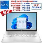 "New Hp 17.3"" - Intel Core-i7- Customize Upto 64gb Ram- Upto 2tb Ssd- Windows 11"