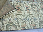 VINTAGE GRECIAN WOMAN AND EUROPEAN CREST TAPESTRY FABRIC -80 X 58 LONG