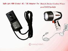 12V Adapter For Black & Decker Cordless Waterproof Led Spotlight Fl3Wbd Sl5W09