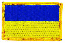 FLAG PATCH PATCHES UKRAINE UKRAINIAN IRON ON EMBROIDERED SMALL