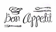 "Hip in a Hurry HIH Wall Graphics Vinyl Decal Removable Sticker ""BON APPETIT"""