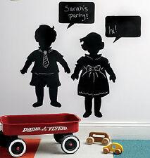 WALLIES VINTAGE KIDS children CHALKBOARD wall stickers 4 decal chalk black board