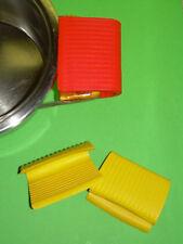 PRESINE IN GOMMA PER PENTOLE CUCINA set 2 pezzi rosse o gialle secondo dispon.