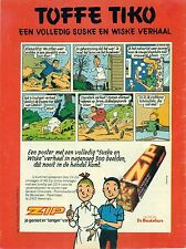 Original old advert. of the 70s - Zip De Beukelaer - Suske en Wiske poster - A4