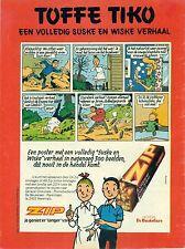 Original old advert. of the 70s - Zip De Beukelaer - Suske en Wiske poster - A4