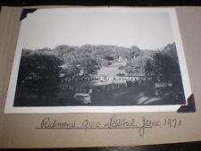 Old amateur photograph Richmond 900 festival Yorkshire 1971