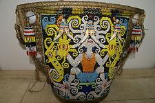 Ornate Orang Ulu Tribal Old Beads Baby Carrier Borneo Art Status Symbol 161A32