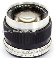 Auto Mamiya Secor 1:1.4 f=55mm VERY RARE Chrome TOP M42 Screw & DIGITAL fit Lens