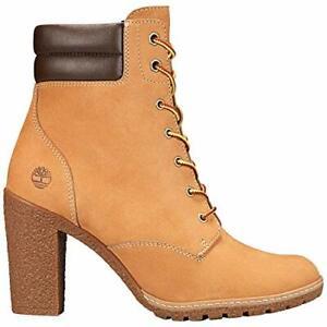 Timberland Women's Tillston Lace-up Boots, Wheat Nubuck, Size 7.5 If8Z