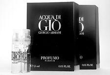 GIORGIO ARMANI ACQUA DI GIO PROFUMO 1.5ml .05oz COLOGNE SPRAY MINI VIALS x2