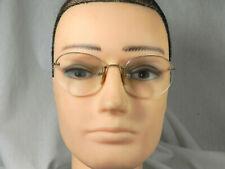 True Vtg 40s Eye Glasses Shuron 12K Gold Filled Wire Frame Rimless Spectacle