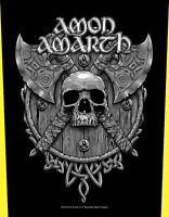 Amon Amarth Skull and Axes- Rückenaufnäher-Backpatch-Metal Sammlung Rock