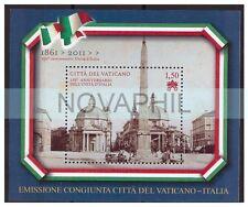 VATICANO 2011 - FOGLIETTO 150°  UNITA' - CONGIUNTA CON ITALIA