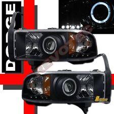 94-01 Dodge Ram 1500 2500 3500 Black Halo Projector Headlights w/ Corner Signal