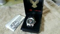 Harley Davidson bulova watch 76A12 RARE EAGLE  gift collectible running! nice!