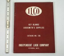 Vintage 1950 Independent Lock Co. Locksmith's Supply Catalog Key Blanks ILCO