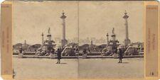 Espagne Aranjuez Fontaine d'Hercule Stereo Vintage Albumine ca 1865