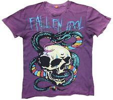 Getragen Used AMPLIFIED Vintage RUGMAN Snake Skull Tattoo Rock Star T-Shirt S 48