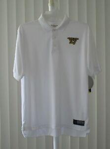Polo Shirt Short Sleeve Gold's Gym Staff White Bi-Dri Size Medium