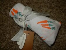 NWT 47x47 ANGEL DEAR Carrots Cotton Muslin Receiving Swaddle Baby Crib Blanket