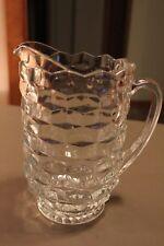 New listing Vintage Clear Glass Water Or Beverage Pitcher Embellished Design