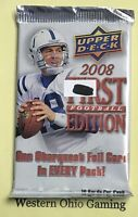 2008 Upper Deck First Edition Football Card Pack NEW NFL Sports