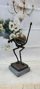 PICASSO HOMMAGE - BRONZE SCULPTURE THE OSTRICH AMAZING LARGE FIGURE STRAUß