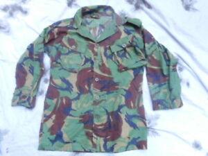 GENUINE ISSUE old type falklands war era DPM JUNGLE TROPICAL COMBAT shirt size 8