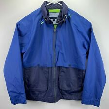 Tommy Hilfiger Mens Nautical Windbreaker Jacket Blue XL