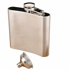 (Bulk of 10 sets) 6oz High Quality Stainless Steel Flask offer *Free Funnel*