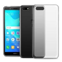 For Huawei Honor 7s Case Clear Slim Gel Cover & Glass Screen Protector