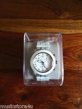 NEW Swatch Full-Blooded White SVCK4045AG Quartz Chronograph Date Dial Watch