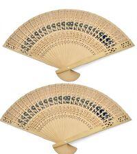2 PCS Chinese Japanese Bamboo folding Fan HAND FAN NEW IN BOX U.S. Seller