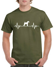 Unisex Mens Dog Gifts Tshirt Presents Kerry Blue Terrier Heart Beat Pulse Love