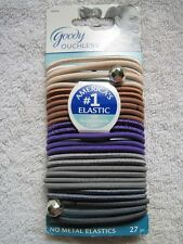 27 Goody Ouchless Ponytailer Hair Bands No Metal Elastics Amethyst Shine Charm