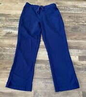 Healing Hands Purple Label Womens Scrub Pants Navy Blue Medium Excellent Used