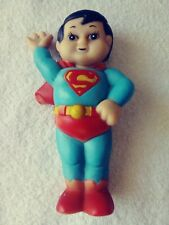 "ORIGINAL 1978 DC COMICS SUPER JUNIOR SUPERMAN RUBBER / VINYL SQUEEZE TOY 7"" Tall"