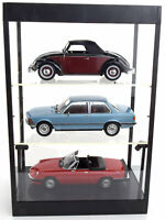 TRIPLE 9 DISPLAY SHOW CASE 3 TIER GLASS SHELVES 1:18 SCALE GREAT 3X CAR DISPLAYS