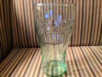 "Genuine Coca-Cola Green Glass Large Cup 6"" Drink Vintage Coke 17 OZ"