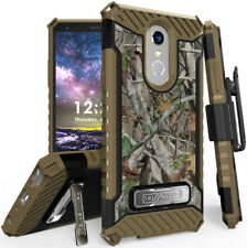 Autumn Camo Tree Real Woods Case Cover Stand Belt Clip for LG Q Stylus, Stylo 4