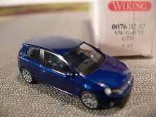 1/87 Wiking VW Golf VI GTD dunkelblaumetallic 076 02