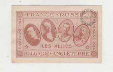 Tsar Nicolas II,King George V,Albert II & R.Poincare,World War I Alliance,1914