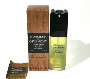 Monsieur Givenchy Men NUVEAU VISIBLE Eau de Toilette Spray 2 oz - Vintage in Box