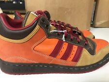 men's adidas strider size 9.5 brown, red, orange