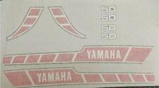YAMAHA  RD50 RD50M RD50-M  SPEEDBLOCK [RED/WHITE] DECAL KIT