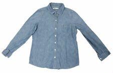 Old Navy Blue Denim Look Size S Button Up Shirt
