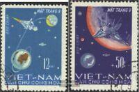Vietnam 448-449 (kompl.Ausg.) gestempelt 1966 Mondlandung von Luna 9